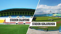 Indosport - Stadion Kanjuruhan vs  Stadion Gajayana.