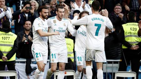 Real Madrid saat menang 7-1 melawan Deportivo La Coruna. - INDOSPORT