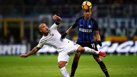 AS Roma vs Inter Milan. - INDOSPORT