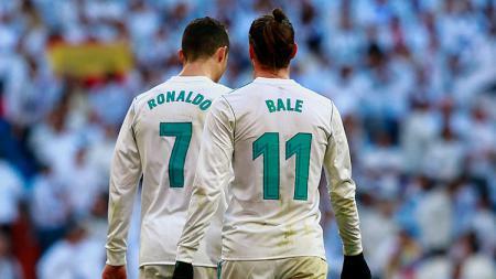 Cristiano Ronaldo dan Gareth Bale pada laga saat melawan Deportivo La Coruna. - INDOSPORT