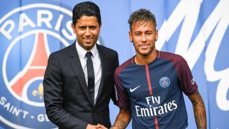 Nasser Al-Khelaïfi, pemilik PSG didakwa telah menyuap eks petinggi FIFA, Jerome Valcke. - INDOSPORT