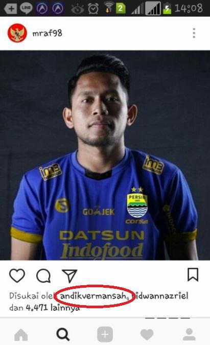 Ini bukti Andik Vermansah siap ke Persib Bandung Copyright: Instagram