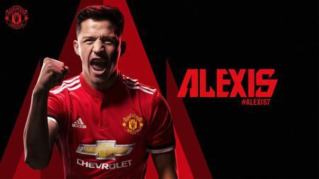 Alexis Sanchez resmi ke Man United. - INDOSPORT