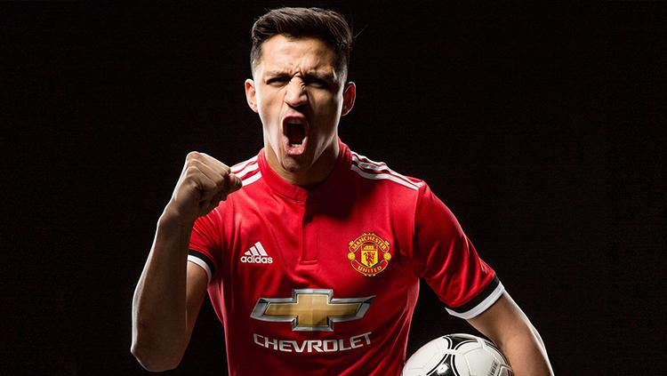 Alexis Sanchez resmi ke Man United. Copyright: Man United