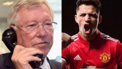 Indosport - Alex Ferguson dan Alexis Sanchez.