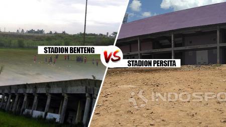 Stadion Benteng vs Stadion Persita. - INDOSPORT