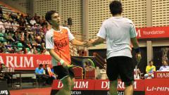 Indosport - Pebulutangkis ganda putra Indonesia, Angga Pratama dan Mohammad Ahsan.