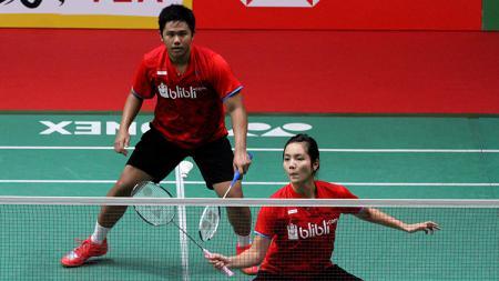 Yantoni Edy Saputra dan Marshella Gischa Islami di ajang Daihatsu Indonesia Masters 2018. - INDOSPORT