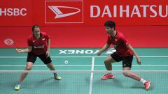 Indosport - Praveen Jordan dan Melati Daeva Oktavianti di ajang Daihatsu Indonesia Masters 2018.