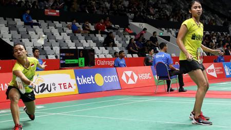 Della Destiara Haris dan Rizki Amelia Pradita di ajang Daihatsu Indonesia Masters 2018. - INDOSPORT