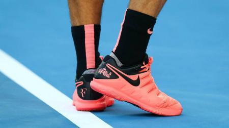 Sepatu berwarna Pink di Australia Terbuka 2018 - INDOSPORT