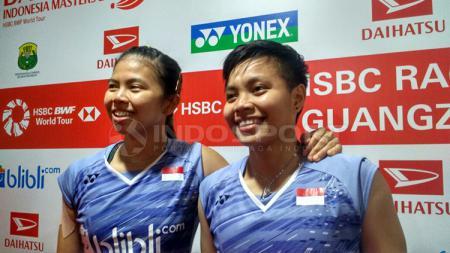 Greysia Polii/Apriyani Rahayu di Indonesia Masters 2018. - INDOSPORT
