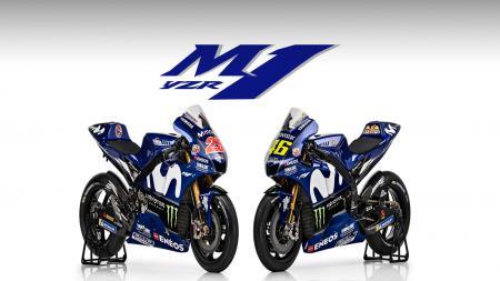 Motor anyar tim Movistar Yamaha, YZR-M1. - INDOSPORT