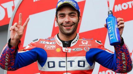 Danielo Petrucci, pembalap MotoGP dari tim Pramac. - INDOSPORT