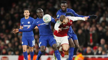Gelandang Chelsea, Tiemoue Bakayoko, berencana gabung AC Milan usai masa peminjamannya usai bersama AS Monaco. - INDOSPORT