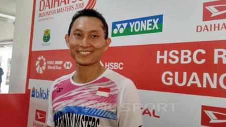Pebulu tangkis tunggal putra Indonesia, Sony Dwi Kuncoro. - INDOSPORT