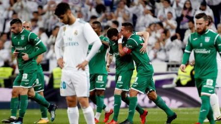 situasi pertandingan Real Madrid vs Leganes. - INDOSPORT