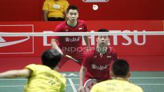 Indosport - Marcus Fernaldi Gideon dan Kevin Sanjaya Sukamuljo