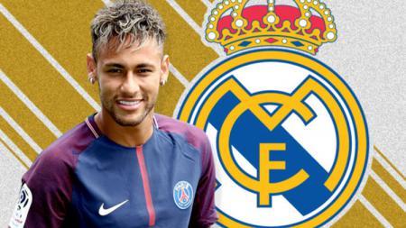 Neymar dan Real Madrid. - INDOSPORT