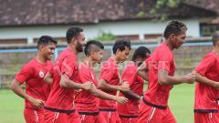 Indosport - Skuat Persija latihan tertutup jelang lawan Bali United