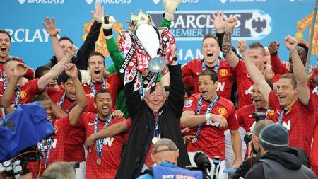 Man United raih gelar Liga Primer Inggris 2013. - INDOSPORT