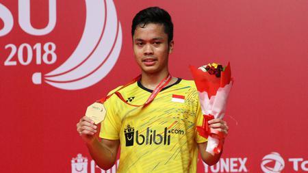 Anthony Sinisuka Ginting raih gelar juara Indonesia masters 2018. - INDOSPORT