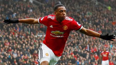 Penyerang Manchester United, Anthony Martial, menyebut gol debut ke gawang Liverpool merupakan gol terbaik yang pernah ia cetak. - INDOSPORT