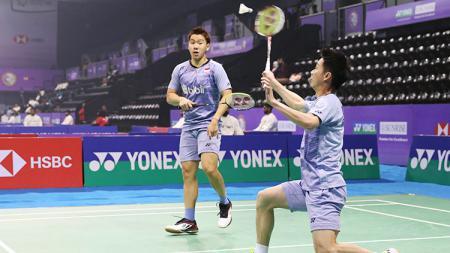 Turnamen India Open bisa dibilang menjadi panggung kekuasannya ganda putra nomor 1 dunia, pasangan Kevin Sanjaya Sukamuljo/Marcus Fernaldi Gideon. - INDOSPORT