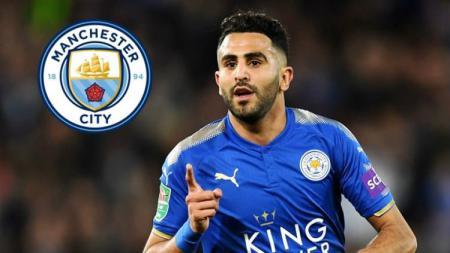 Rumor Riyad Mahrez ke Manchester City. - INDOSPORT