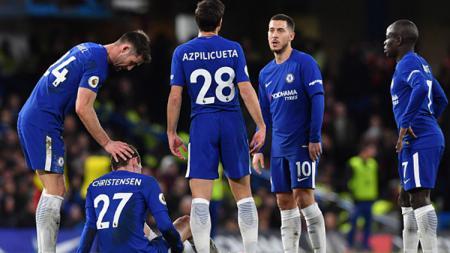 Chelsea lesu saat harus kalah 3-0 dari Bornemouth. - INDOSPORT