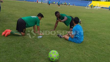 Pemain Sriwijaya FC saat jalani latihan. - INDOSPORT