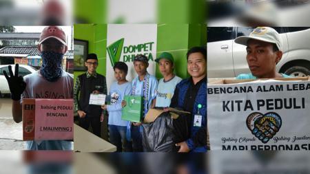 Aksi sosial Bala Singandaru peduli bencana Lebak. - INDOSPORT