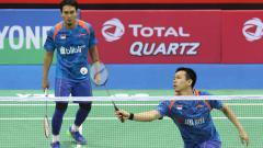Indosport - Hendra Setiawan dan Mohammad Ahsan (India Open 2018).