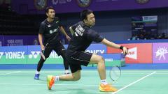 Indosport - Pasangan ganda putra Indonesia, Hendra/Ahsan.