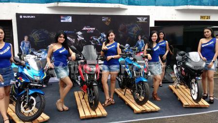 Para SPG di Suzuki Bike Meet Jamboree Nasional 2018. - INDOSPORT