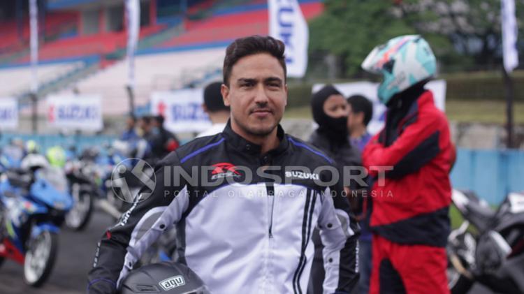 Hamis Daud menghadiri Para SPG di Suzuki Bike Meet Jamboree Nasional 2018. Copyright: Juni/INDOSPORT