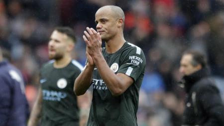 Kapten Manchester City Vincent Kompany. - INDOSPORT
