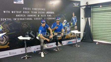 Andrea Iannone dan Alex Rins - INDOSPORT