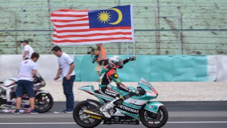Hafizh Syahrin, pembalap MotoGP asal Malaysia. - INDOSPORT