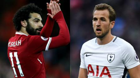 Mohamed Salah vs Harry Kane. - INDOSPORT