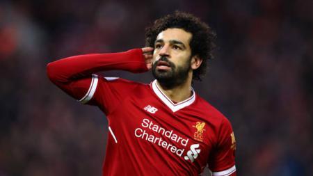 Pemain Liverpool Mohamed Salah. - INDOSPORT