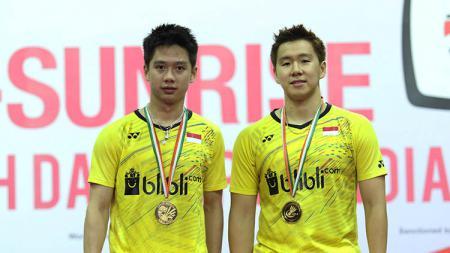 Berikut tiga pasangan ganda putra Indonesia peraih gelar di turnamen India Open yang tahun ini ditunda karena virus Corona. - INDOSPORT