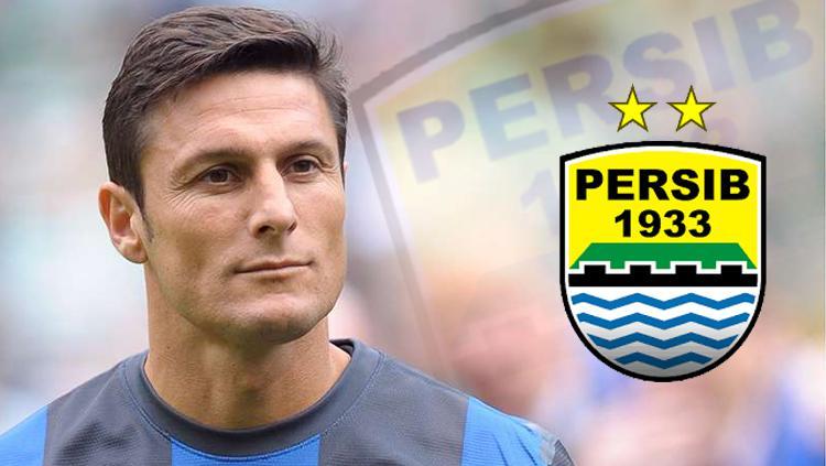 Javier Zanetti dan Persib Bandung. Copyright: INDOSPORT