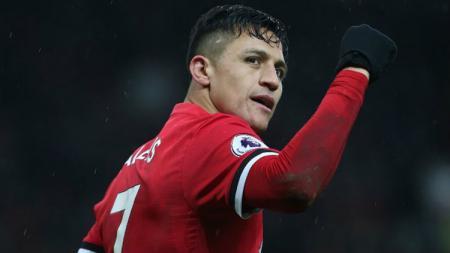 Penyerang Manchester United, Alexis Sanchez. - INDOSPORT