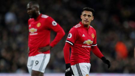 Penyerang Manchester United Alexis Sanchez. - INDOSPORT