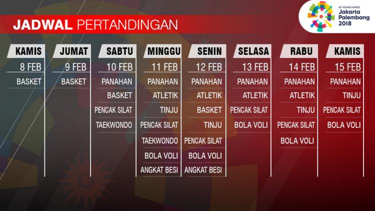 Jadwal Pertandingan Asian Games  Copyright Grafisyanto Indosport Com