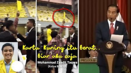 Zadit Taqwa, pemberi kartu kuning Presiden Jokowi. - INDOSPORT
