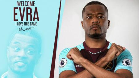 Patrice Evra resmi direkrut West Ham United. - INDOSPORT