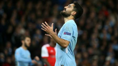 Pemain Manchester City Ilkay Gundogan. - INDOSPORT