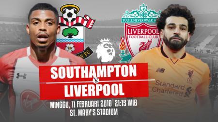 Southampton vs Liverpool. - INDOSPORT
